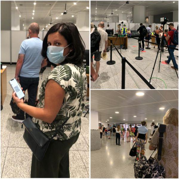malaga airport security arrival