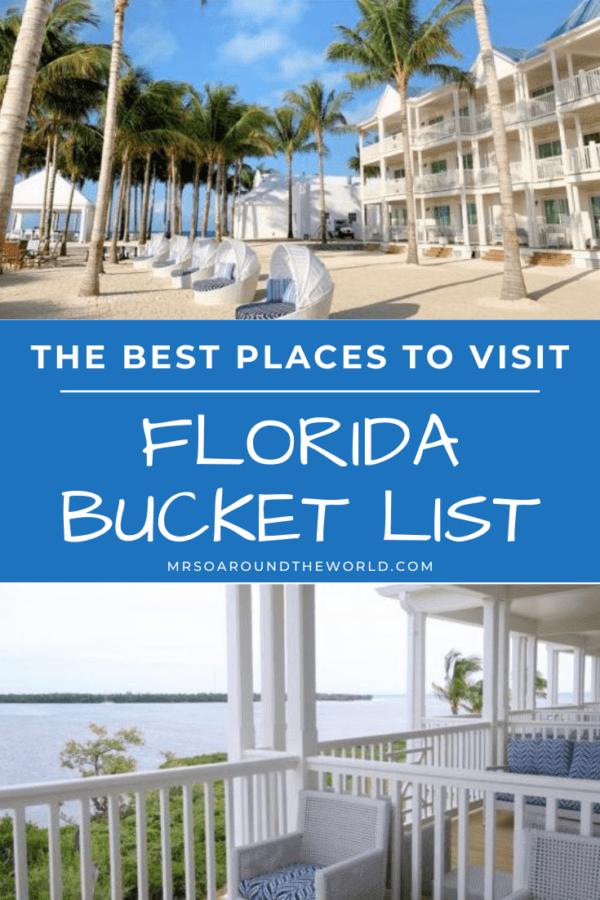 Best Places to Visit Florida Bucket List