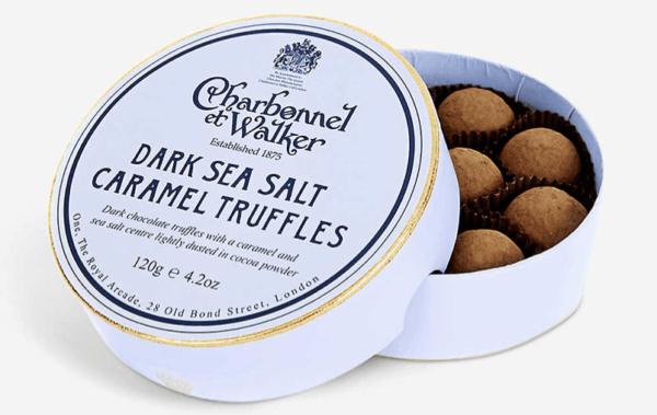 CHARBONNEL ET WALKER Dark chocolate sea salt caramel truffles