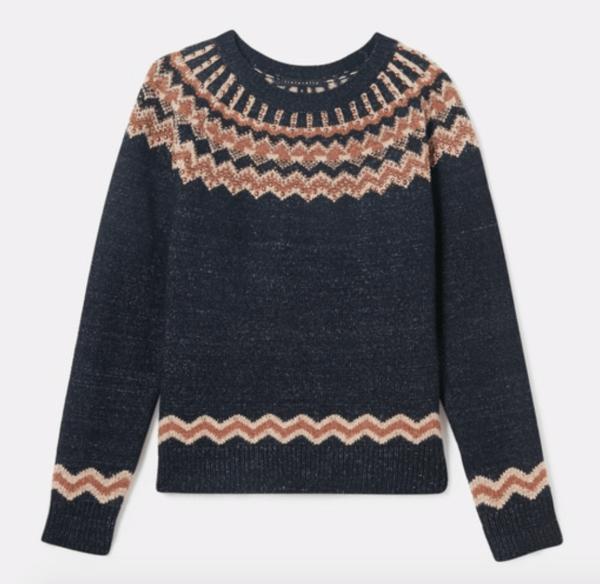 TINTORETTO round neck jacquard sweater