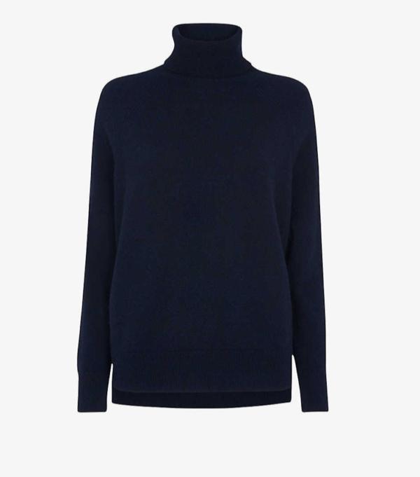 whistles roll neck cashmere jumper