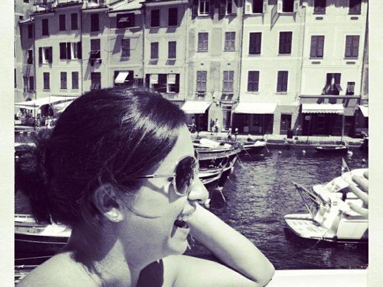 Looking happy in Portofino, Italy