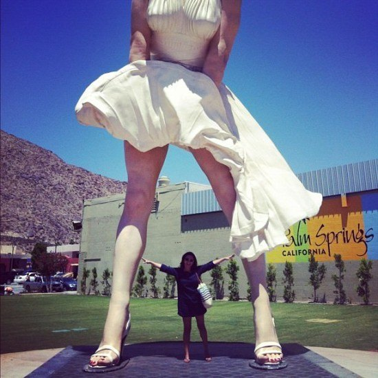 Marilyn is wearing white, obviously! In Palm Springs