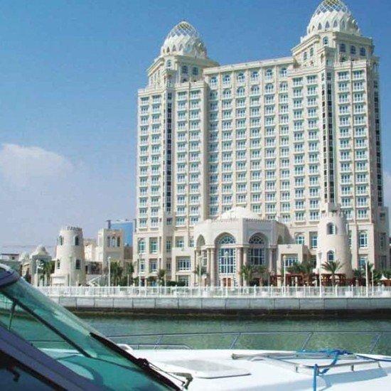The Four Seasons Doha, standing tall, by Doha's Corniche