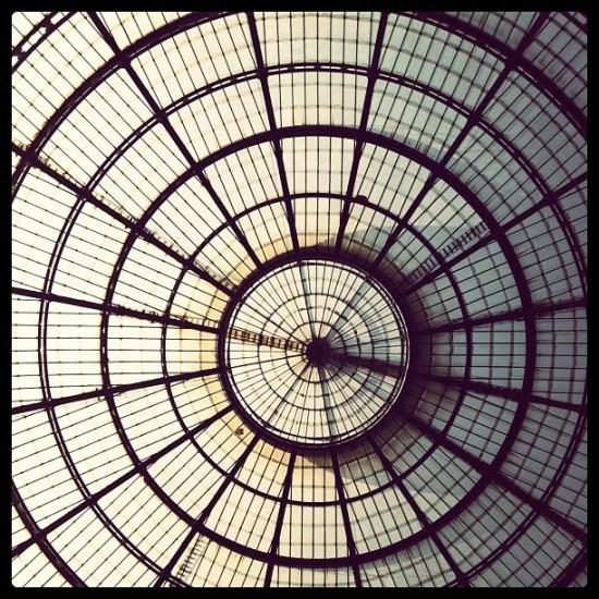 Galleria Vittorio Emmanuelle - love the ceiling