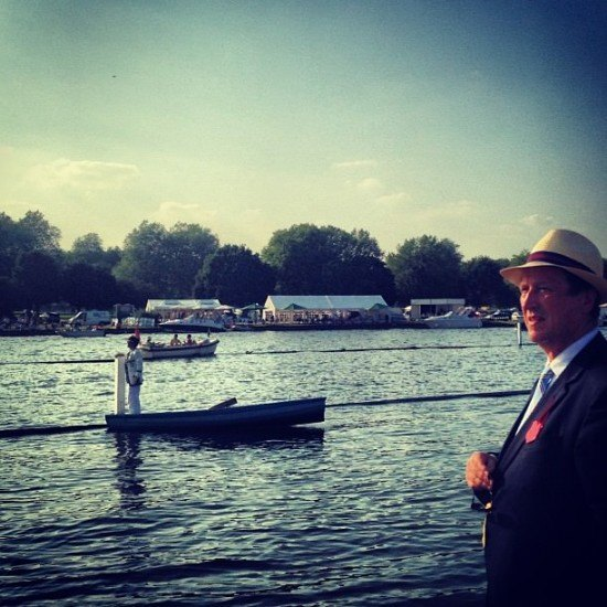 Mr O also gets to wear a hat during Henley Royal Regatta