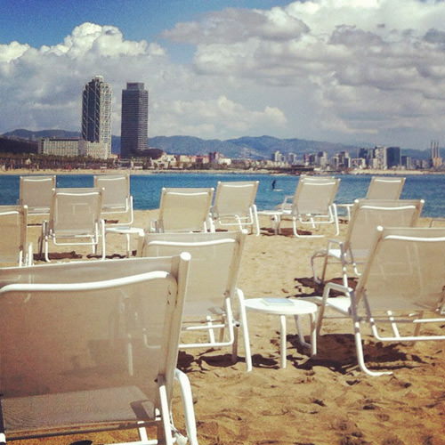 The W Barcelona is the only hotel in Barcelona with direct beach access