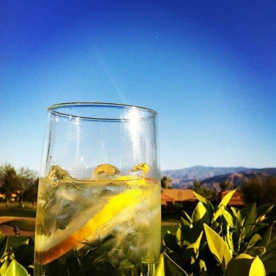 I always say a gin tastes better with a view!