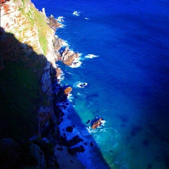 The stunning blue waters of the Cape of Good Hope, in South Africa