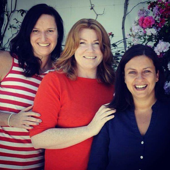 Happy with my lovely friends, Trudi and Terene (both Kiwis, what a coincidence!)
