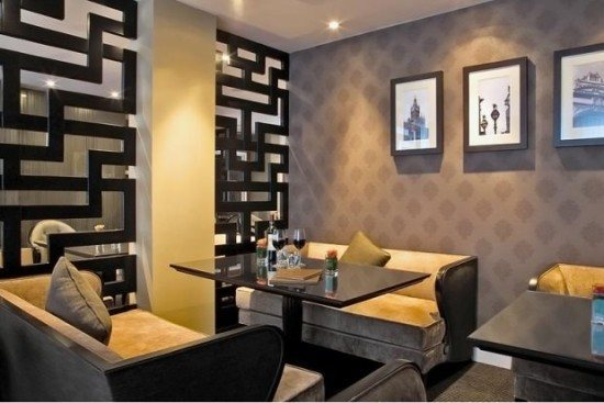 The cozy room which doubles up as restaurant and bar