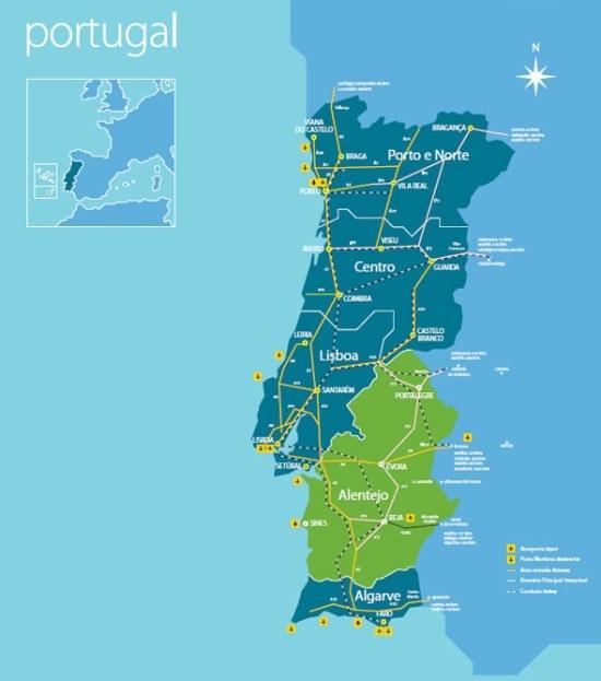 Alentejo, in Portugal (Map by VisitPortugal.com)