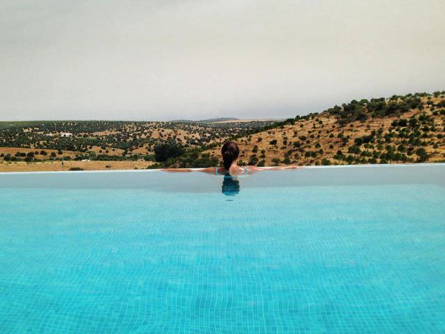 Yes, the pool was all mine. And the views...