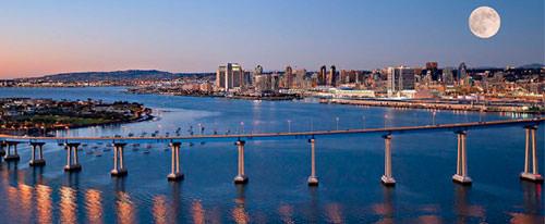 Coronado Bridge and San Diego skyline
