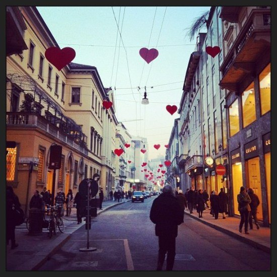 Love was all around us at Via Montenapoleone